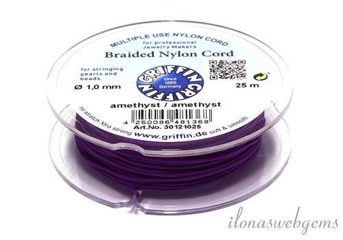 Griffin nylon cord amethyst