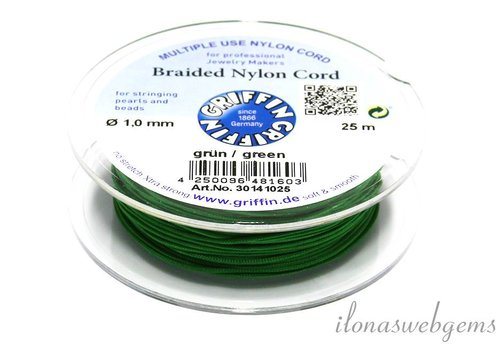 Griffin nylon koord groen 25m