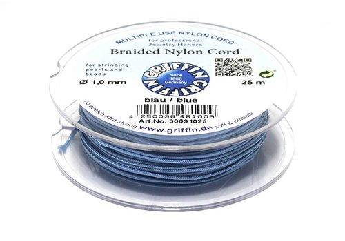 Griffin braided nylon cord blue