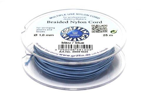 Griffin nylon koord blauw 25m