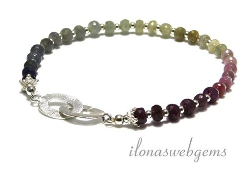 Inspiration: Sapphire beads anklet