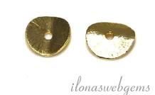 20 Stück vergoldet `Plättchen` ca. 8mm