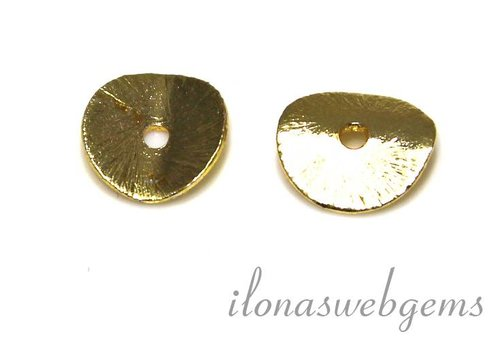 1 piece of gold plated `chips` approx. 8mm
