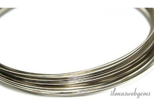 Silverfilled draad vierkant zacht ca. 0.6mm / 22GA