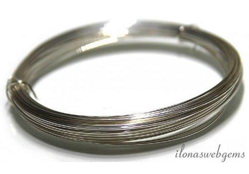 1 meter Silverfilled draad zacht ca. 0.8mm / 20GA