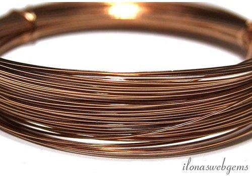 1cm rosé 14k / 20 Gold, das gefüllte Garn norm.0.6mm / 22GA