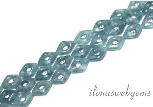 Blauer Schwamm-Quarz- Perlen