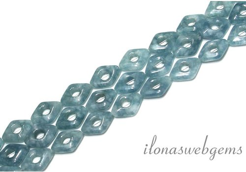 Blue sponge Quartz Beads