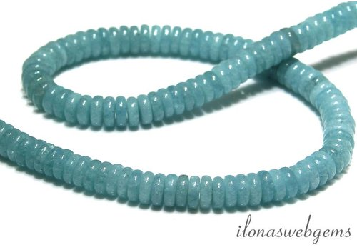 Blauer Schwamm Quarz Perlen Scheiben