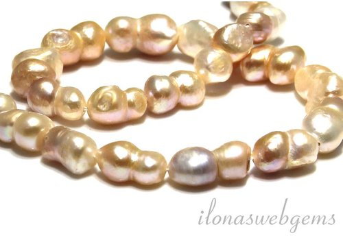 Freshwater pearls double app. 20x10mm