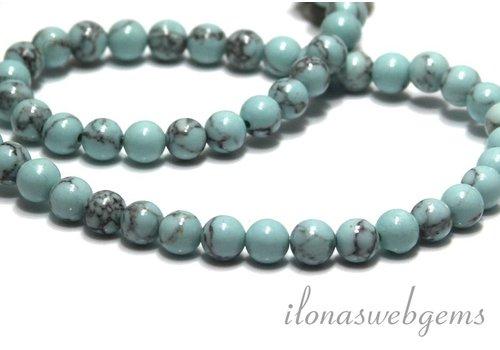 Howlite beads around 6.2mm