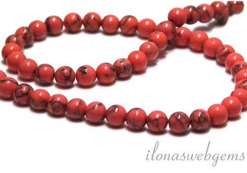 Howlith Perlen ca. 6.5mm