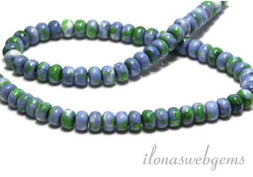 Howlite beads roundel app. 6.3x4mm