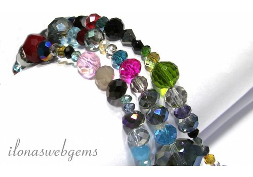 Swarovski style kristal kralen mix