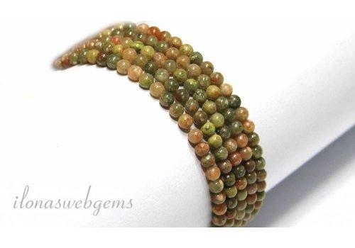 Unakite beads mini approximately 3.3mm