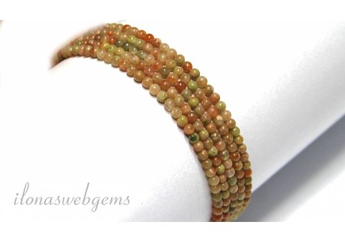 Unakite beads mini approximately 2.3mm