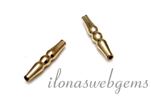Gold filled tube bead around 14x2.7mm