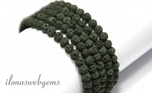 Lava Steinperlen grün 5mm