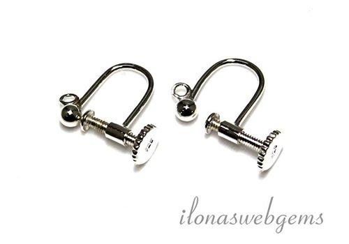 1 paar oorbellen met schroef sluiting