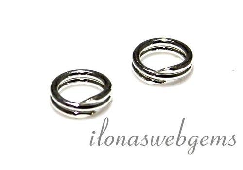 Sterling zilveren split ring