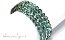blau-grüne glas Perlen ca. 6mm