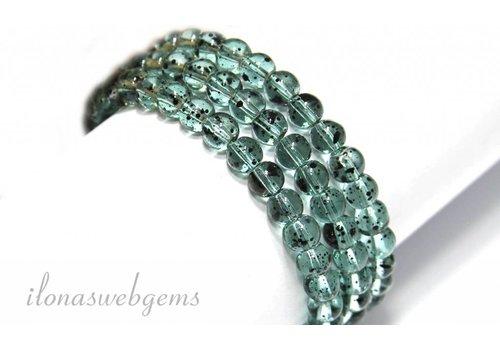 blue-green glass beads app. 6mm