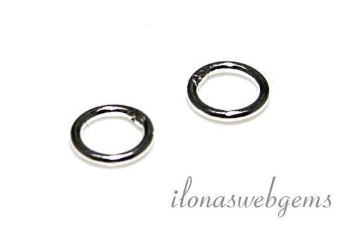 10 stuks sterling zilveren oogje gesloten ca. 4.5x0.8mm