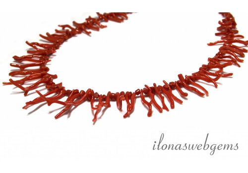 Red coral beads sticks' 'corallium rubrum'