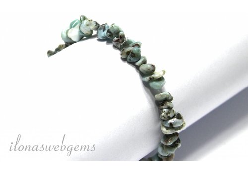 Larimar split beaded bracelet around 7mm