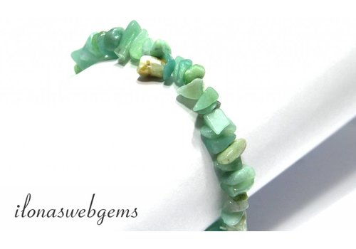 Amazonite split beaded bracelet approx 7.5mm