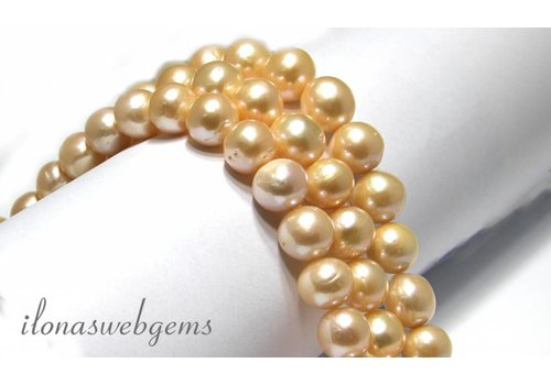 Freshwater pearls large size soft salmon A quality app. 12-14mm