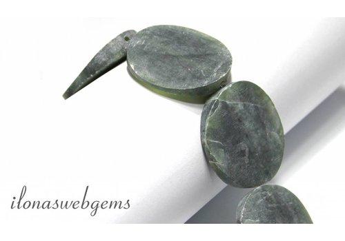 Afghan Serpentin Perlen um 40x9mm