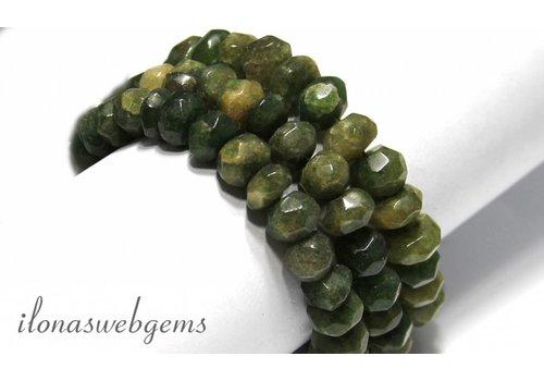 Afghan Serpentin Perlen um 11x7mm