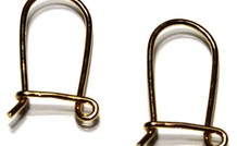 1 Paar Ohrring Vermeil Klammern