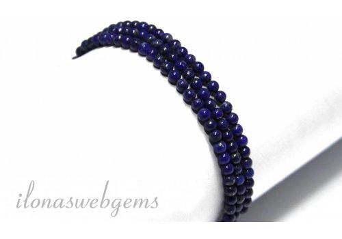 Lapislazuli Perlen etwa 4,5 mm