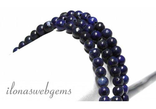 Lapis Lazuli kralen rond ca. 8mm met groot rijggat