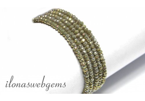 Swarovski Stil Kristall Facetten Rondelle Perlen ca. 3x2mm