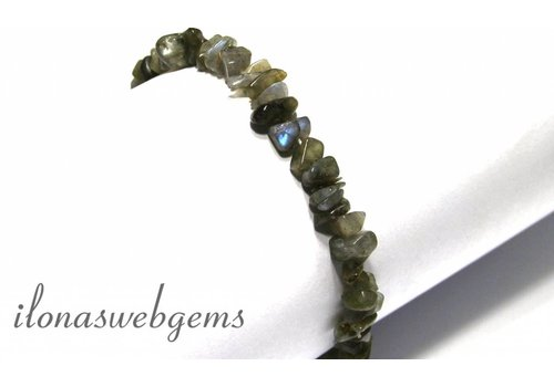Labradorite split beaded bracelet around 8mm