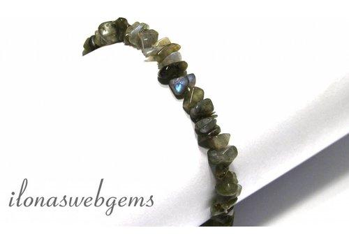Labradorite Split Perlen Armband um 8mm