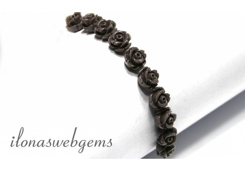 20 stuks Koraal roosje ca. 9x5mm (kraal)