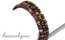 Rubin und Saphir facettiert Rondelle Perlen ca. 6x4mm
