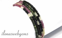 Saphir Perlen Facette Rondelle ca. 4x2mm