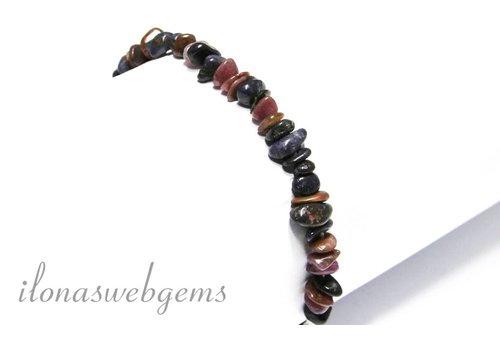 Ruby / Sapphire beads mix bracelet split approximately 6-10x3-3.5mm