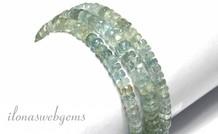 Aquamarin Perlen Facette Rondelle ca. 7x3.5mm