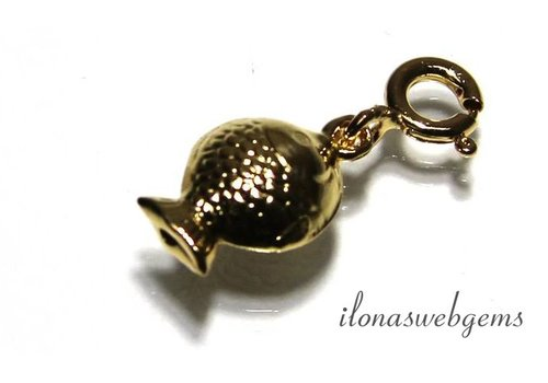 Vermeil Charm Fish app.12x7mm