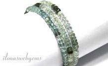 Aquamarin Perlen Facette Rondelle