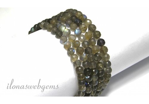 Labradorit Perlen facettiert rund ca.7mm