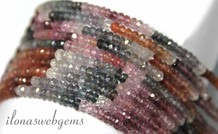 Spinell Perlen Facette Rondelle ca. 4x2mm