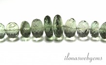 Prasioliet Perlen facettiert Rondelle ca. 10x5mm