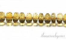 Citrin Perlen Facette Rondelle 7x4mm über A Qualität